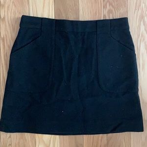 JCrew wool black mini skirt 0